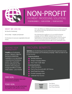 Alliance Nonprofit Payment Solutions Brochure